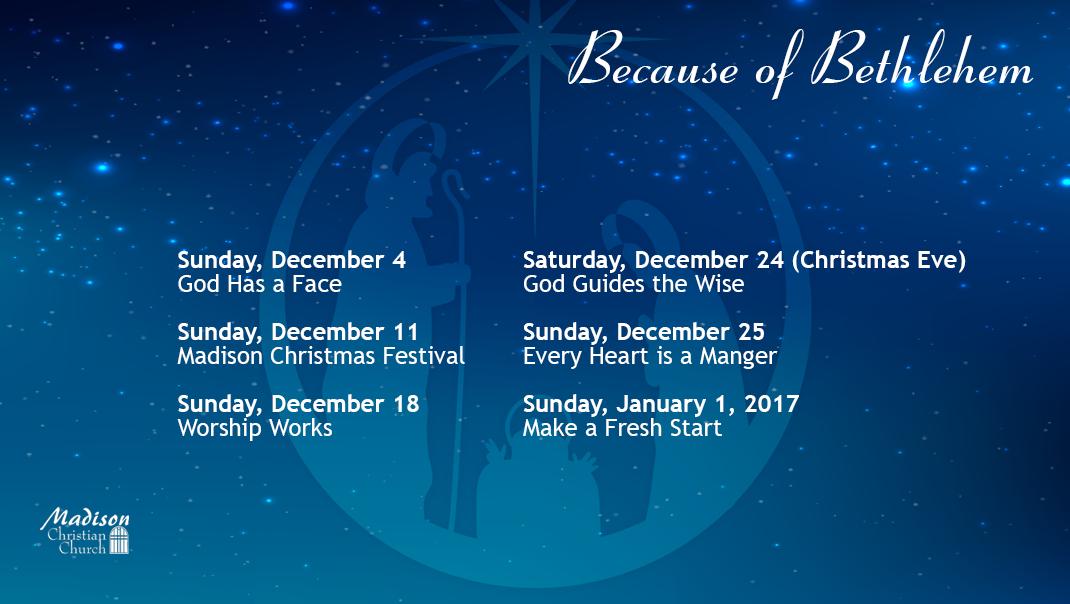 Because of Bethlehem Sermon Series
