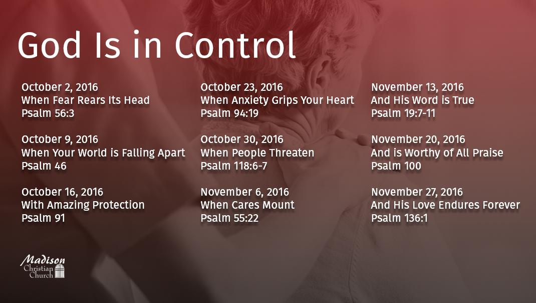 God is in Control Sermon Series